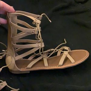 Lace up sandals from Charlotte Russe